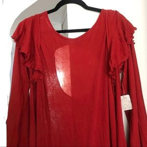 Free People Dresses - Free People Beach Cranberry Cotton Dress